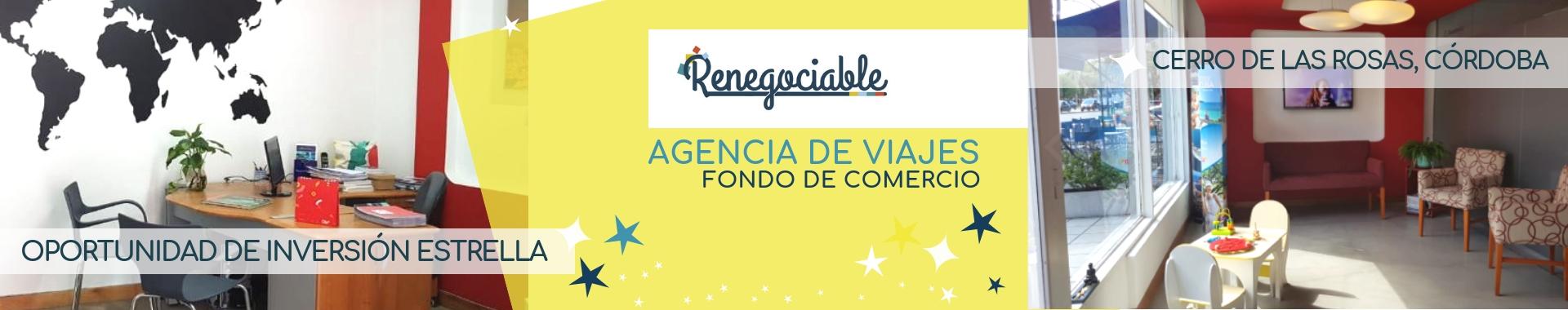 Oportunidad de Inversión Estrella. Fondo de Comercio Agencia de viajes Córdoba.
